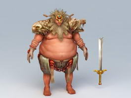Fat Barbarian Warrior 3d model