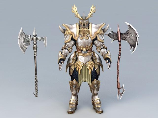 Berserker Warrior Armor Sets 3d model