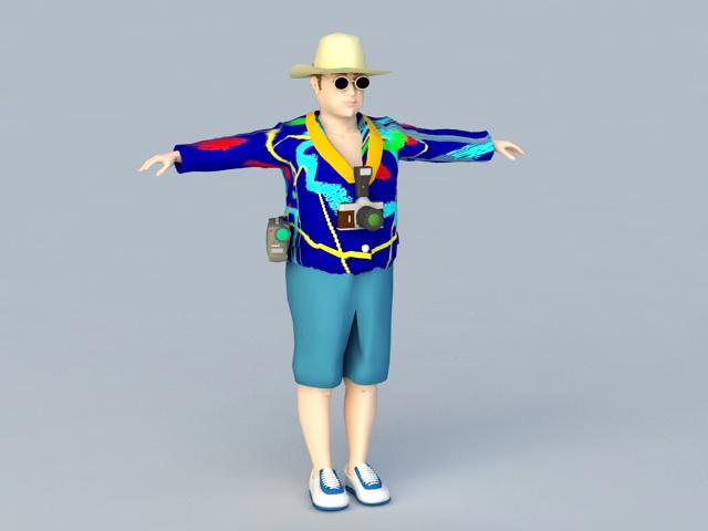 Tourist People 3d model