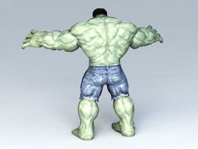Marvel Avengers Character Hulk 3d model 3ds Max,Collada,Autodesk FBX