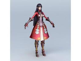 Anime Healer Girl 3d model