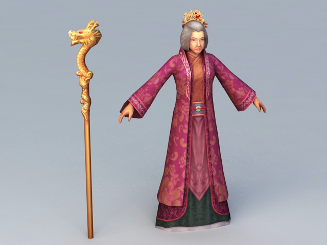 Ancient Chinese Grandmother 3d model