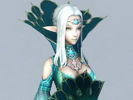 Beautiful Elf Princess 3d model