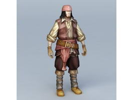 Male Pirate Character 3d model