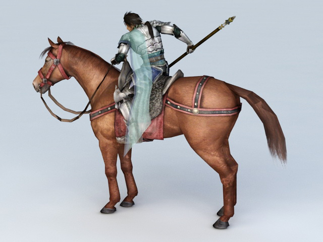 Warrior Riding Horse 3d Model 3ds Max Files Free Download