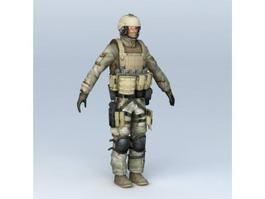 Desert Soldier 3d model
