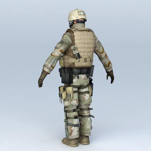 Desert Soldier 3d model - CadNav