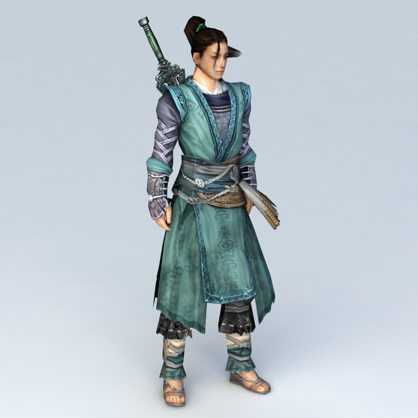 Chinese Swordsman Concept Art Character 3d model