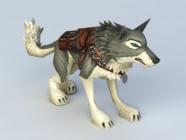 Armored Wolf Mount 3d model