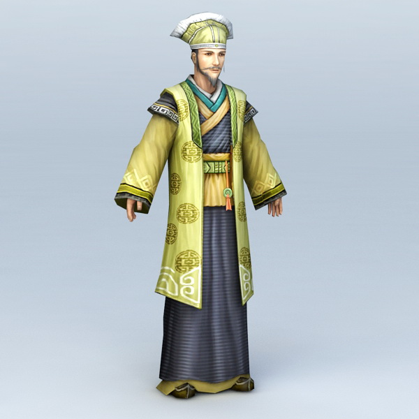 Ancient Chinese Wealth Man 3d model