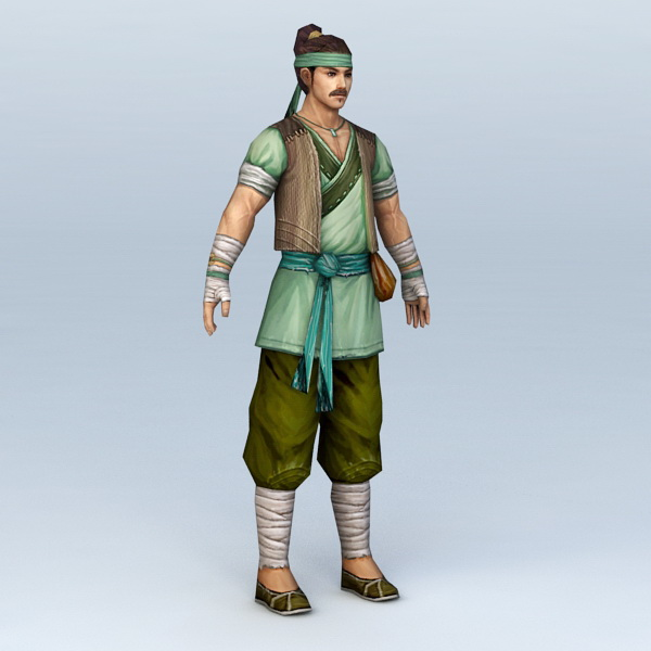 Ancient Chinese Farmer Man 3d model