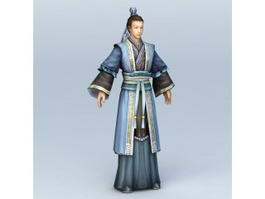 Ancient Chinese Wealthy Scholar 3d model