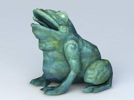 Ancient Toad Statue 3d model
