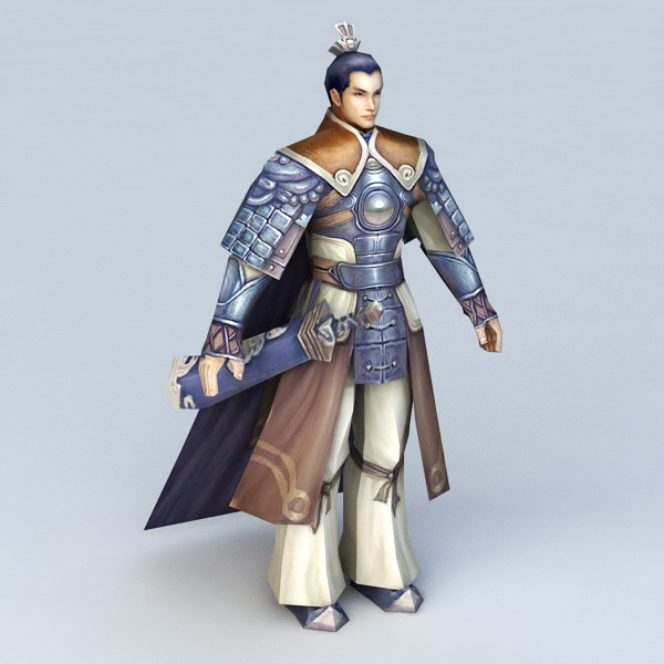 Ancient Chinese General Character 3d model