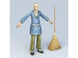 Old Man Servant 3d model