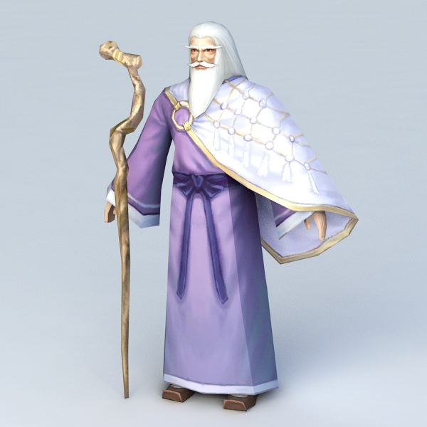 Old Wizard Character 3d model