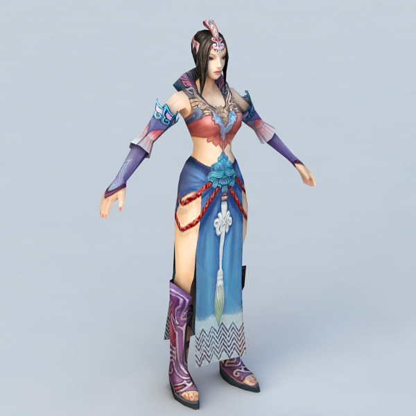 Ancient Woman in China 3d model