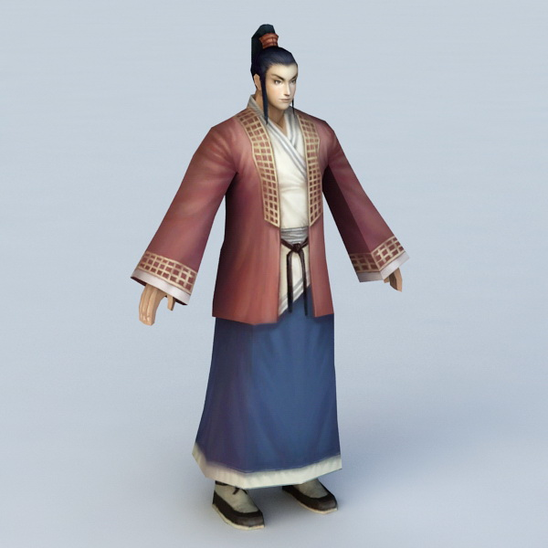 Chinese Historical Man 3d model