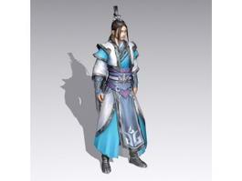 Asian Warrior Man 3d model