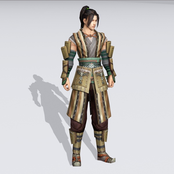 Ancient Chinese Martial Arts Master 3d model