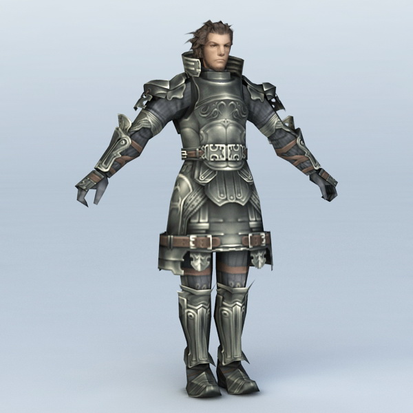 Medieval Knight Character 3d Model 3ds Max Files Free