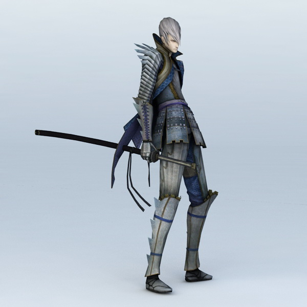 Anime Sword Guy 3d Model 3ds Max Files Free Download