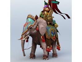 Ancient Persian War Elephant 3d model