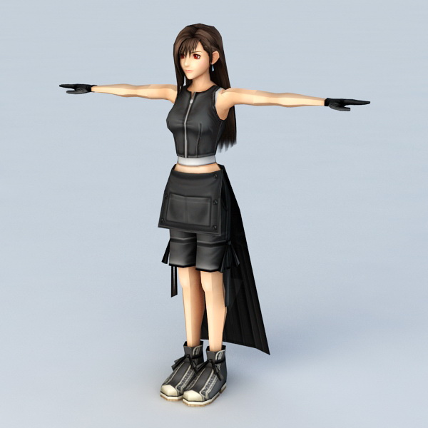 Anime Girl With Black Dress 3d Model 3ds Max Files Free