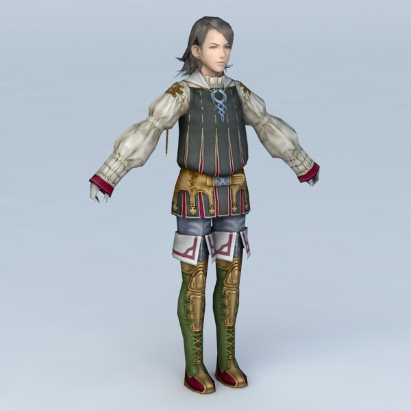 Medieval Handsome Guy 3d model