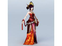 Chinese Anime Girl Dancer 3d model