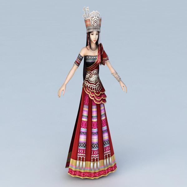 Chinese Hmong Princess 3d model