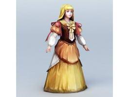 Medieval Venice Girl 3d model