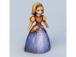 Doll Girl 3d model