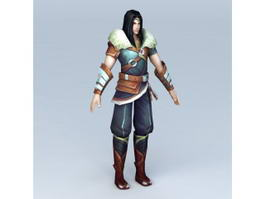 Chinese Male Anime Warrior 3d model