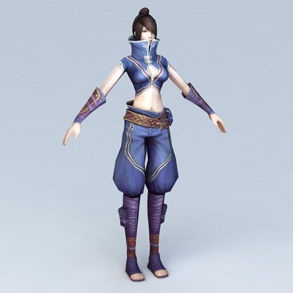 Fantasy Female Warrior Woman 3d model