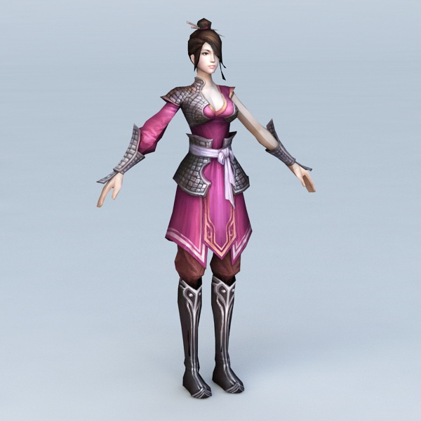 Asian Warrior Women 3d model