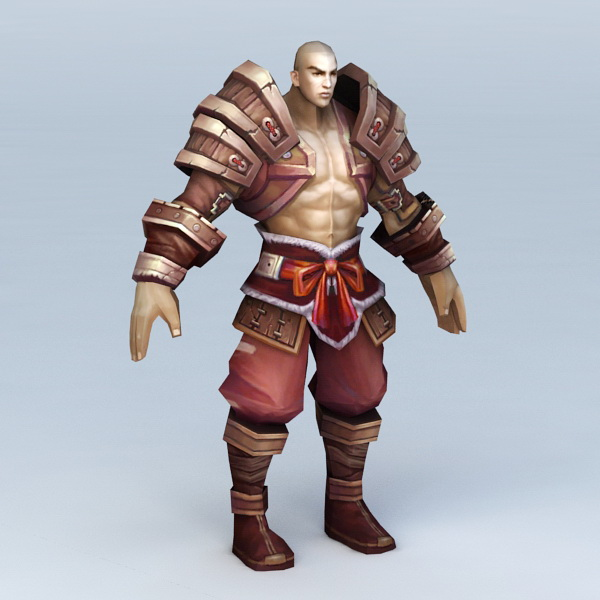 Pathfinder Monk Character 3d model