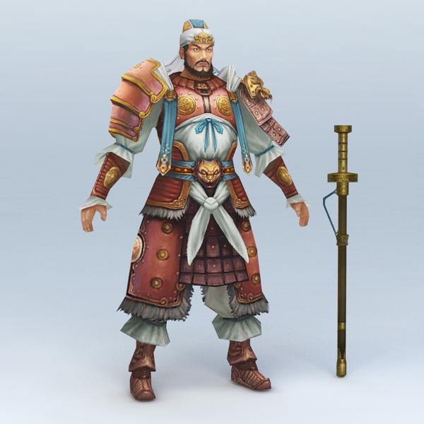 Warrior with Sword 3d model