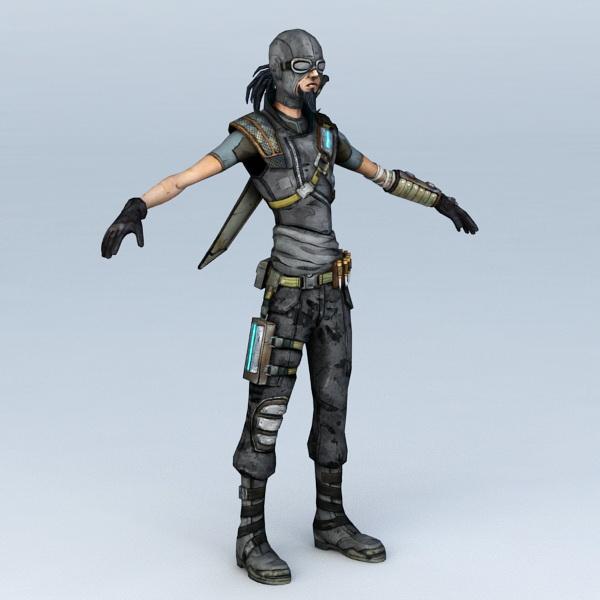 Sci Fi Gunslinger 3d model