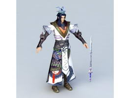 Chinese Swordsman Concept Character 3d model