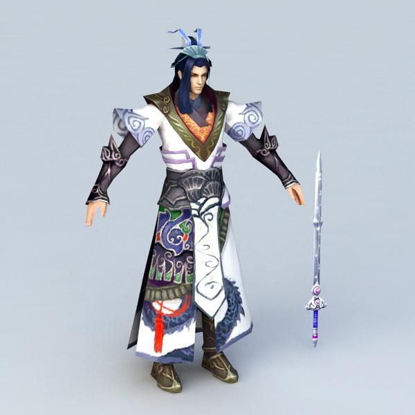 Chinese Swordsman Concept Character 3d model