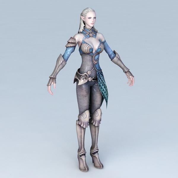 High Elf Female Art 3d model