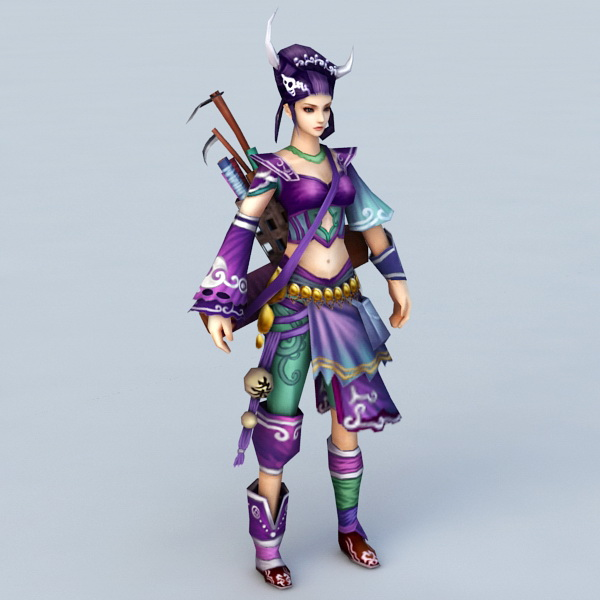 Adventure Girl 3d model
