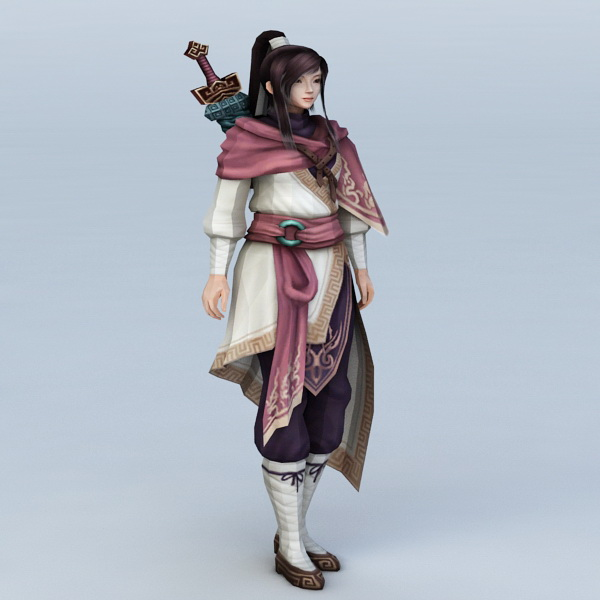 Chinese Swordswoman Character 3d model