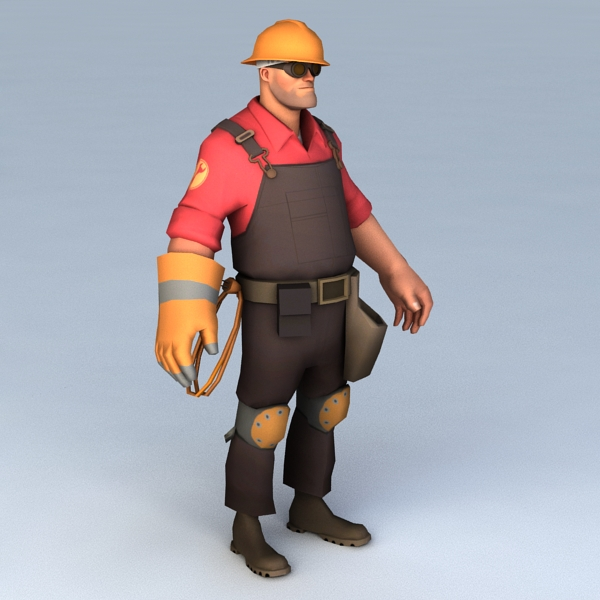 Engineer Character Rigged 3d model