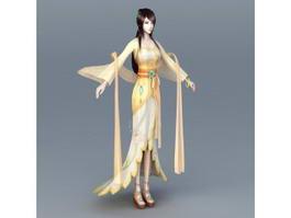 Chinese Moon Goddess 3d model
