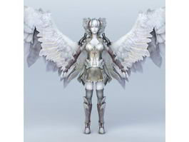 Female Angel Warrior of God 3d model