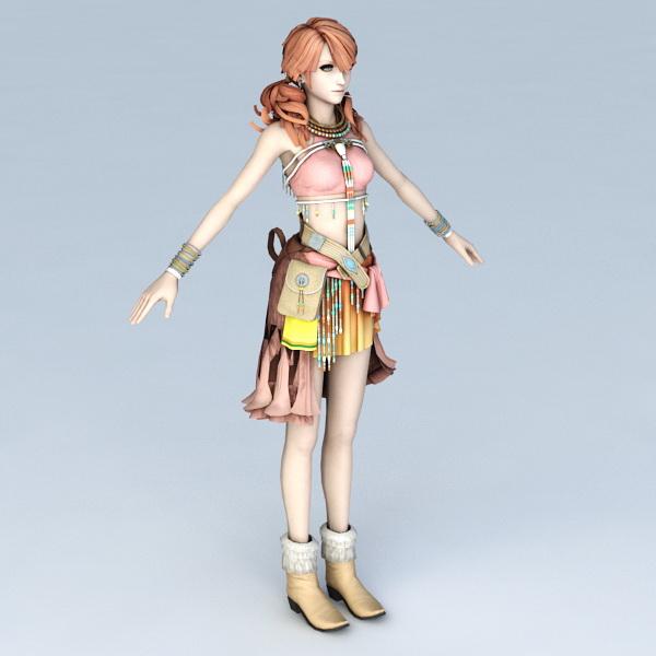 Oerba Dia Vanille character 3d model