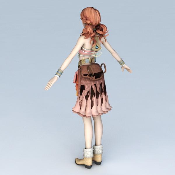 Oerba Yun Fang in Final Fantasy XIII 3d model Object files