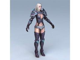 Female Paladin Concept 3d model